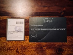 Panther Audio D2X Thank You + Warranty Card